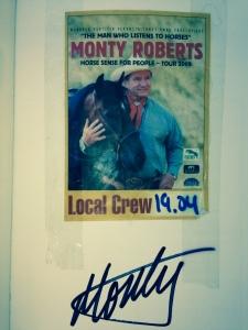 Can´t belive it! Ich gehöre für einen Tag zur LOCAL CREW von Monty Roberts!