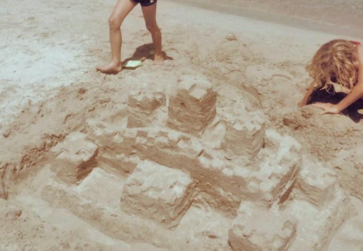 Sandburg auf Mallorca
