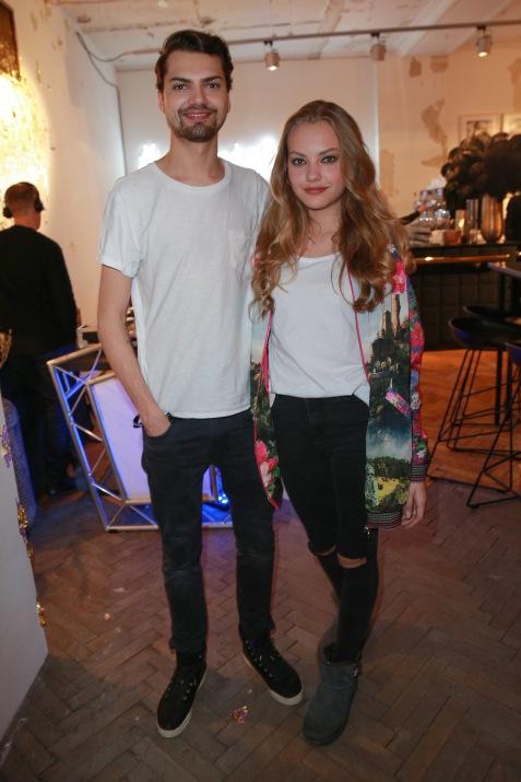 Cheyenne und Jimi Blue Ochsenknecht bei der Fashion Week Herbst / Winter 2017 - RIANI - im KAUFHAUS JANDORF Brunnenstraße 19, 10119 Berlin. Copyright: Eventpress Fuhr Datum 17.01.2017