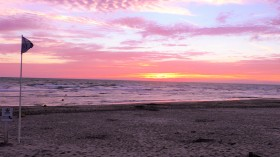 Sonnenuntergang, Strand, Meer, Le Touquet