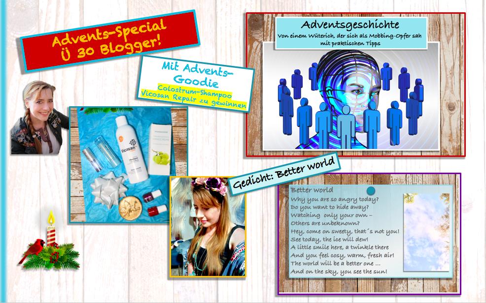 Ü30 Blogger Aktion: Adventsgeschichte: Wenn alles zu stressig wird … mit vielen praktischen Tipps /Adventsgoodie mit Colostrum Shampoo
