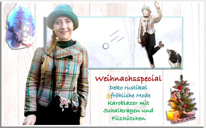 Fashion / Interieur: Was Caro Daur mit  Karoblazer und Filzhut zu tun hat, It-Piece,  fröhlich-rustikale Weihnachtsdeko