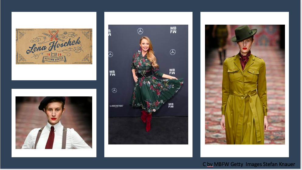 MBFW ( Fashionweek ) Berlin 2019: Designerreihe – Teil 1 Lena Hoschek,  (Maisonnoée, Sportalm, Marcel Ostertag) mein Style à la FW-Designer, Links